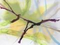 Zonder titel acryl op karton 49 x 53 cm