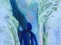 Schaduw  acryl op doek 90 x 130 cm