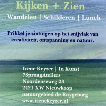 Workshop  Kijken + Zien                                               –      5 juli – 22 aug. –  6 sept.  2020